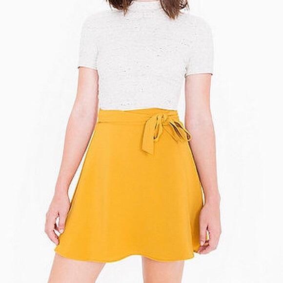 Black American Apparel Wrap Skirt